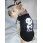 Chat Chien Tee-shirt Vêtements pour Chien Crânes Cœur Jaune Bleu Bleu/Jaune Vin Noir/Jaune