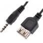 3,5 milímetros Masculino de áudio para USB Feminino Cable (0.1M)