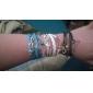 Feminino Enrole Pulseiras Multi Camadas bijuterias Inspirador Confeccionada à Mão Tecido Liga Infinidade Jóias Para Diário Presentes de