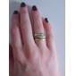 Women's Punk Vintage Style Bronze Ring Set (4Pcs)