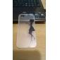 Caso Transparente beijo Mulher Padrão TPU Voltar para o iPhone 5/5S