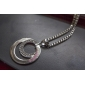 Women's Pendant Necklaces Circle Silver Plated Imitation Diamond Alloy Basic Costume Jewelry Fashion Jewelry For Wedding Party Gift Daily