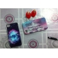 Sample Letter Pattern Hard Case & Touch Pen for iPhone 4/4S