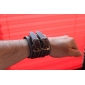 Men's Wide Leather Bracelet Jewelry (27.5*5cm) Christmas Gifts