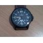 Masculino Relógio Militar Quartzo Quartzo Japonês Calendário Impermeável Couro Banda Marrom marca