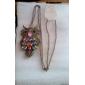 Europeus e americanos comércio de diamantes vintage coruja colar de corrente camisola N81