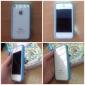 TPU cadre de pare-chocs avec des boutons en métal pour iPhone 4 / 4S (couleurs assorties)