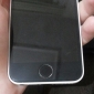 Élégant bouton Argent Cercle Accueil autocollant pour iPhone 4/4S (couleurs assorties)