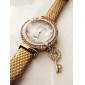 Women's  Love the Key Diamante   Dial Gridding Leather Quartz Wristwatches  (Assorted Color)C&d161 Cool Watches Unique Watches