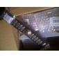 [CyberMondaySale]Miss ROSE® Punk 25cm Men's Black Leather With Gold Alloy ID Bracelet(1 Pc)