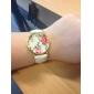 Женские Модные часы Кварцевый PU Группа Цветы Черный Белый Синий Красный Коричневый Зеленый Роуз