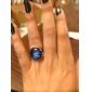 Handmade Galaxy Ring Glass Dome Cabochon Nebula Space Ring