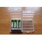 4 Клип чехол держатель Box для 4 шт. TangFire AA / AAA батарея (белый)