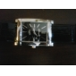 Masculino Relógio Elegante Quartzo PU Banda Preta marca