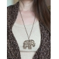 lureme®vintage colar de pingente de elefante oco