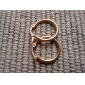 Fashion Simple 1.5CM Round Shape Golden Stainless Steel Hoop Earrings (1 Pair)