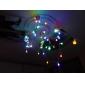 50-led 9m impermeável eu plug outdoor holiday decoração rgb luz led luz de corda (220v)