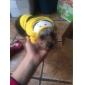 강아지 코스츔 후드 의상 반다나 & 모자 강아지 의류 코스프레 할로윈 자수 장식 옐로우 코스츔 애완 동물
