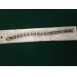Jóias Masculinas presente personalizado de aço inoxidável e silicone gravados ID pulseiras 1,2 centímetros de largura