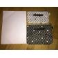 2PCS noir et blanc modèle de lettre de serviette en forme de épaississent Maquillage / Cosmétiques Bag Set Cosmétiques stockage