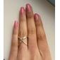Anéis Diário Jóias Liga Anéis StatementAjustável Dourado