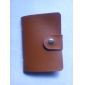 Estilo de la PU del cuero del sostenedor de Empresas de tarjetas de crédito (24 Pocket Coffee)