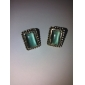 Fake Gemstone Opal Earrings Clip Earrings Non Pierced Ear Clip Earrings Temperament E29