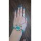 lureme®vintage résine alliage modèle de bijou bracelet avec anneau de modèle de tournesol