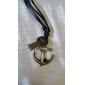 Homme Pendentif de collier Forme de Croix Ancre Cuir Cuivre Alliage Ajustable bijoux de fantaisie Bijoux Pour Quotidien Regalos de Navidad