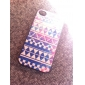 Retro Geometric Figure Coloured Drawing Pattern Black Frame PC Hard Case for iPhone 4/4S