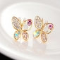 Women's Stud Earrings Costume Jewelry Pearl Rhinestone Alloy Animal Shape Butterfly Jewelry For Party Daily