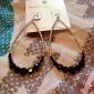 Earring Drop Earrings Jewelry Women Daily Alloy Gold