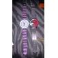 Moda feminina Round Dial Steel Band Quartz analógico relógio de pulso (cores sortidas)