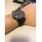 Hommes Montre Bracelet Quartz Etanche Polyuréthane Bande Noir Gris Jaune Marque