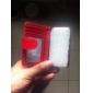 Case Solid Body unité centrale de couleur pleine avec la carte et la photo Emplacement pour iPhone 4/4S (couleurs assorties)