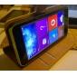 Для Кейс для Nokia Кошелек / Бумажник для карт / со стендом Кейс для Чехол Кейс для Один цвет Твердый Искусственная кожа NokiaNokia Lumia