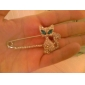 High-quality Crystal Cat Brooch