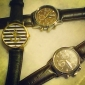 Men's Round Case PU Band Quartz Analog Wrist Watch Cool Watch Unique Watch