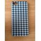 motif pied de poule noir couverture rigide affaire pour iPhone 5 / 5s