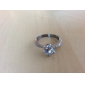 Мода Свадьбы и События Женщины кольца палец Мода 2014 Классика нержавеющей стали 1.25Ct CZ сталь обручальное кольцо