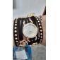 Women's Round Diamante Dial Sunfllower   Leather Quartz Analog Fashion Bracelet Watch (Assorted Colors)C&D152 Cool Watches Unique Watches