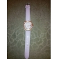 Mulheres Relógio de Moda Quartzo PU Banda Brilhante Preta Branco Vermelho