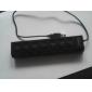 스위치 7 포트 고속 USB 2.0 허브 멀티 플러그 소켓 디자인