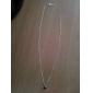 European Silver Little Star Tiny Pendant Necklace(1 Pc)