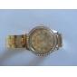 Women's New Fashion Gold  with Diamond Style Metal band Quartz Wrist Watch