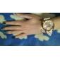 Женские Модные часы Кварцевый силиконовый Группа Цветы Разноцветный бренд-