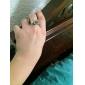 Anéis Diário / Casual Jóias Cobre Feminino Anéis Statement Dourado