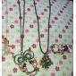 Feminino Colares com Pendentes Colares Vintage Zircão Liga Moda bijuterias Jóias Para Diário