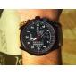 Masculino Relógio Militar Quartzo Quartzo Japonês Couro Banda Marrom Cáqui Branco Castanho Escuro Khaki
