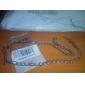 eruner®unisex 6мм Серебряная цепочка ожерелье № 108